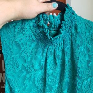 New York and Company turquoise lace dress